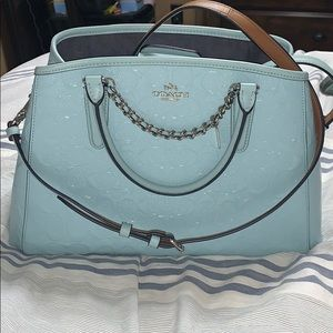 Baby Blue Larger Coach Purse